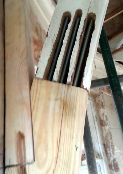 Multi part arch components in Douglas Fir